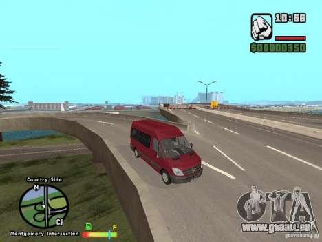 Mercedes-Benz 311 CDi pour GTA San Andreas sur la vue arrière gauche