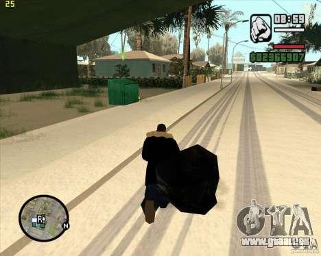 Faire les poubelles pour GTA San Andreas cinquième écran