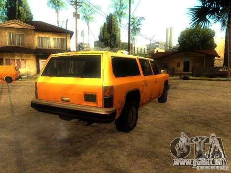 Taxi Rancher pour GTA San Andreas sur la vue arrière gauche