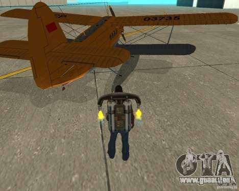An-2V für GTA San Andreas zurück linke Ansicht