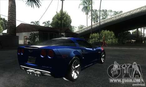 Chevrolet Corvette Grand Sport 2010 für GTA San Andreas Innen