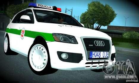 Audi Q5 TDi - Policija für GTA San Andreas Innenansicht