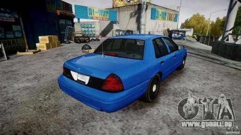 Ford Crown Victoria Detective v4.7 [ELS] pour GTA 4 est une vue de l'intérieur