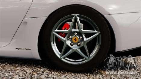 Ferrari 599 GTB Fiorano 2006 pour GTA 4 est une vue de l'intérieur