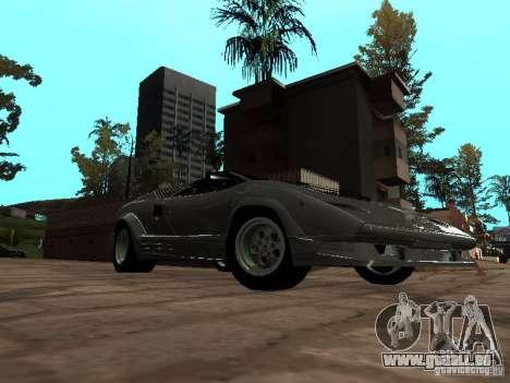 Lamborghini Countach 25th pour GTA San Andreas sur la vue arrière gauche
