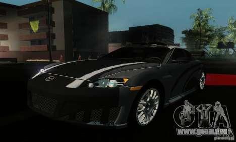 Mazda RX-8 Tuneable pour GTA San Andreas vue arrière