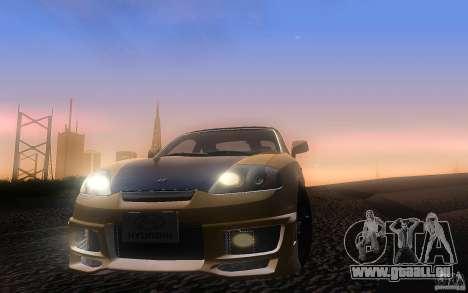 Hyundai Tiburon V6 Coupe tuning 2003 pour GTA San Andreas vue de côté