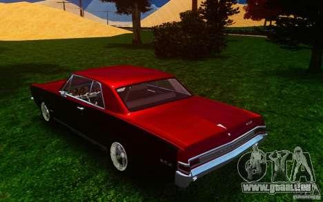 Pontiac GTO 1965 FINAL pour GTA 4 Vue arrière de la gauche