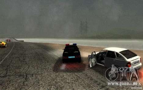 ВАЗ 2114 DPS pour GTA San Andreas vue intérieure