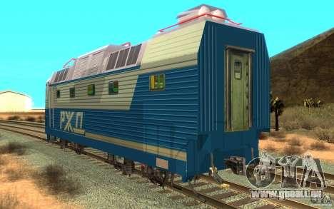 Lokomotiv ChS7-082 pour GTA San Andreas sur la vue arrière gauche