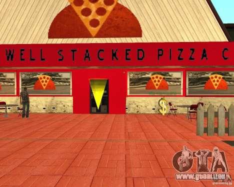 Achat de pizza pour GTA San Andreas quatrième écran