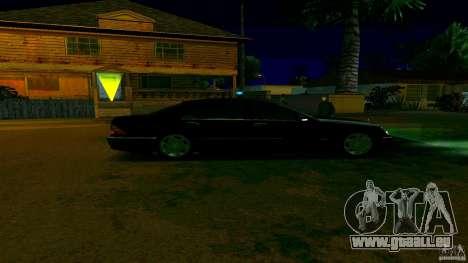 Mercedes S500 pour GTA San Andreas sur la vue arrière gauche