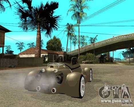Messerschmitt GT500 Tiger Hard tuned pour GTA San Andreas sur la vue arrière gauche
