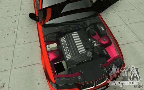 BMW Fan Drift Bolidas pour GTA San Andreas vue de dessous
