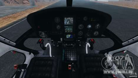 Eurocopter AS350 Ecureuil (Squirrel) pour GTA 4 Vue arrière