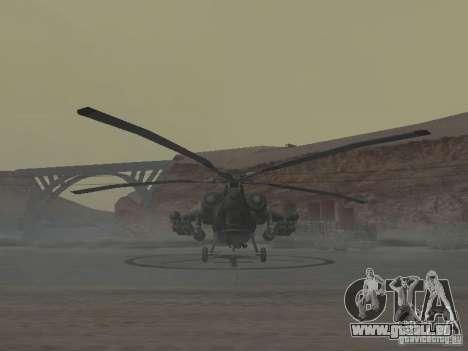 Mil Mi-28 für GTA San Andreas zurück linke Ansicht