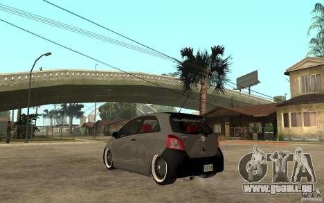 Toyota Yaris II Custom pour GTA San Andreas sur la vue arrière gauche