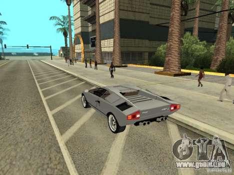 Lamborghini Countach LP400 pour GTA San Andreas laissé vue