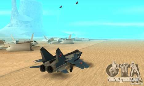 MiG-31 Foxhound für GTA San Andreas linke Ansicht