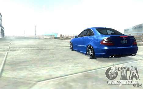 Mercedes-Benz CLK55 AMG für GTA San Andreas zurück linke Ansicht