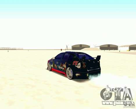 Skoda Octavia III Tuning für GTA San Andreas Rückansicht