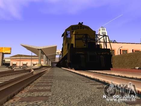 SD 40 UP BN Santa Fe pour GTA San Andreas sur la vue arrière gauche