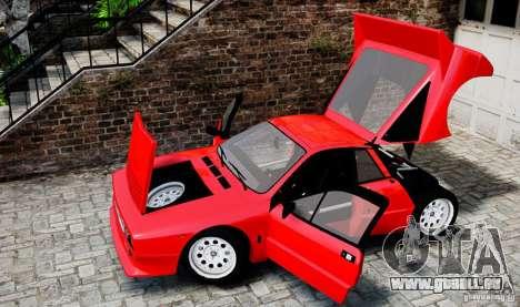 Lancia 037 Stradale für GTA 4 Innenansicht