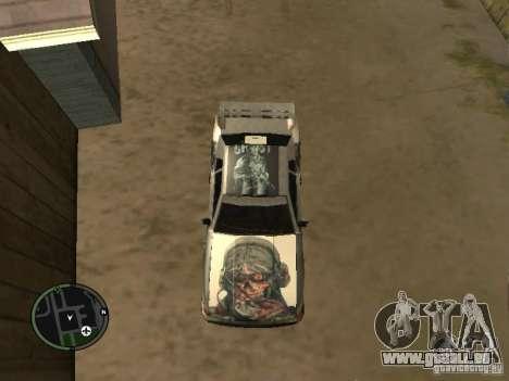 Fantôme vynyl pour Elegy pour GTA San Andreas sur la vue arrière gauche
