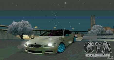 BMW E92 pour GTA San Andreas sur la vue arrière gauche