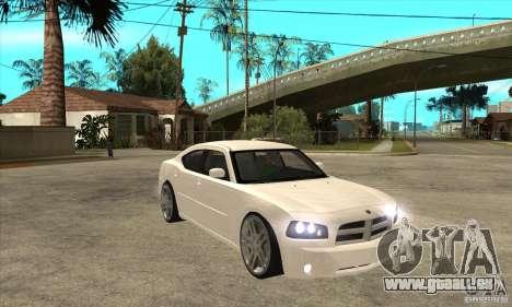 Dodge Charger R/T 2006 pour GTA San Andreas vue arrière
