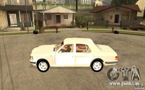 Bentley Turbo RT pour GTA San Andreas laissé vue