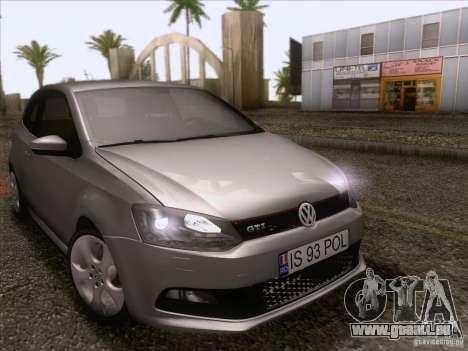 Volkswagen Polo GTI 2011 pour GTA San Andreas vue intérieure