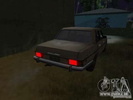 Mercedes-Benz de Call of Duty 4 pour GTA San Andreas sur la vue arrière gauche
