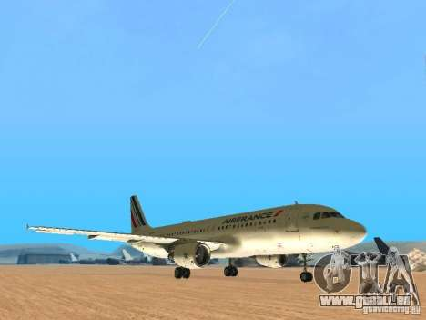 Airbus A320 Air France für GTA San Andreas linke Ansicht