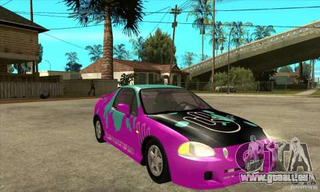 Honda CRX - DelSol pour GTA San Andreas vue arrière