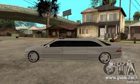 Mercedes-Benz CL65 Limusine pour GTA San Andreas laissé vue