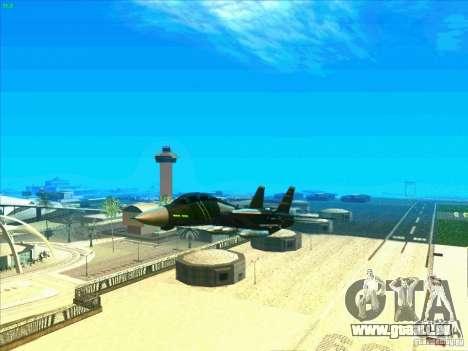 F-14 Tomcat Schnee für GTA San Andreas Unteransicht