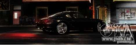 Porsche Cayman pour GTA 4 Vue arrière