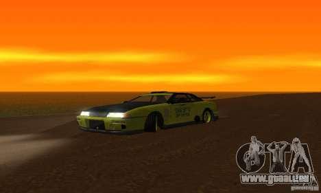 Lime Vinyl For Elegy pour GTA San Andreas sur la vue arrière gauche
