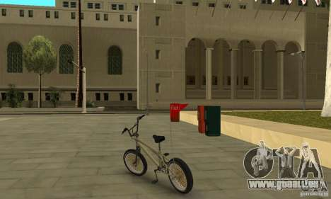 Nouveau BMX pour GTA San Andreas sur la vue arrière gauche