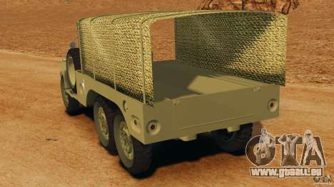 Dodge WC-62 3 Truck pour GTA 4 Vue arrière de la gauche