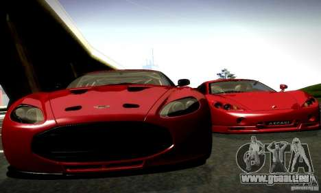 Aston Martin V12 Zagato Final für GTA San Andreas zurück linke Ansicht