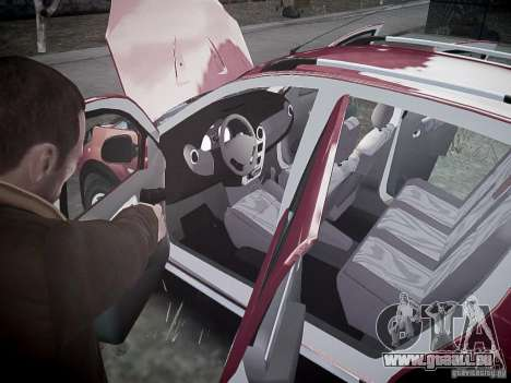 Dacia Sandero Stepway für GTA 4 Innen