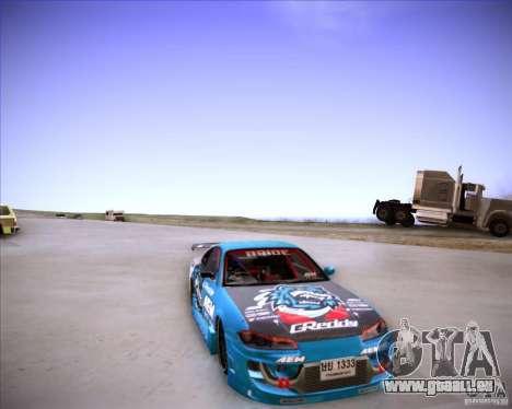 Nissan Silvia S15 Blue Tiger pour GTA San Andreas vue arrière