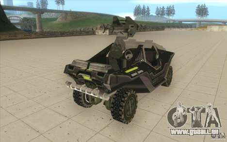 Halo Warthog pour GTA San Andreas vue intérieure