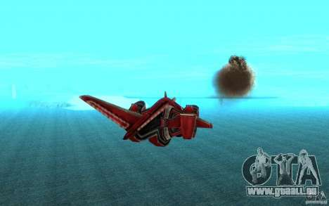 MOSKIT air Command and Conquer 3 pour GTA San Andreas vue arrière