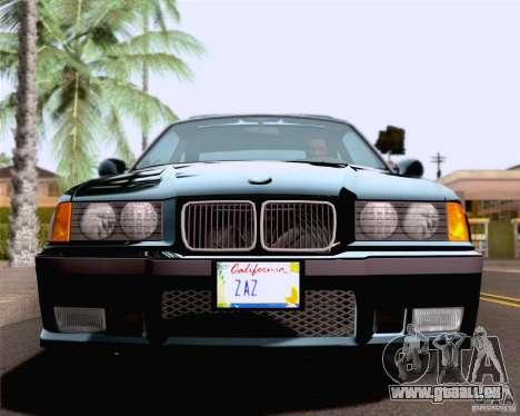 BMW M3 E36 New Wheels pour GTA San Andreas vue de côté
