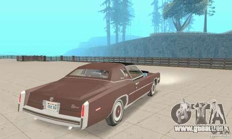 Cadillac Eldorado Biarritz 1978 pour GTA San Andreas laissé vue