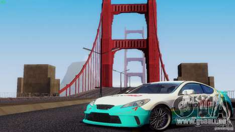 Hyundai Genesis Tunable für GTA San Andreas Unteransicht