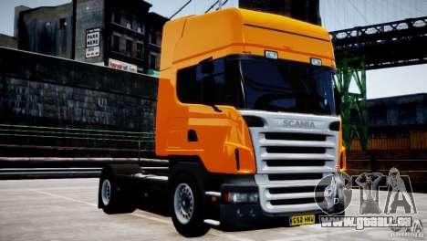 Scania R500 pour GTA 4 est une vue de l'intérieur